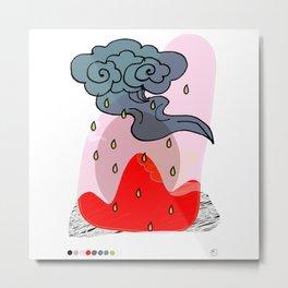 It's a raining day Metal Print