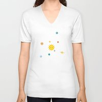 solar system V-neck T-shirts featuring Solar System by Sara Showalter