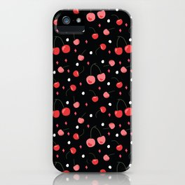 Cherry Print iPhone Case