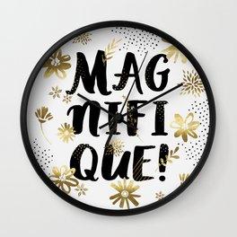 Magnifique Wall Clock
