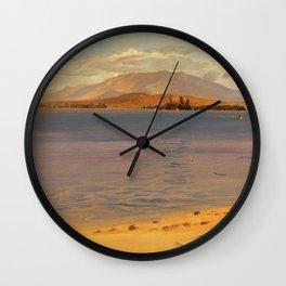 Mount Katahdin from Lake Millinocket - Frederic Edwin Church Wall Clock