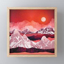 Scarlet Glow Framed Mini Art Print