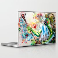 architect Laptop & iPad Skins featuring Architect of Prehysterical Myth by Skinner