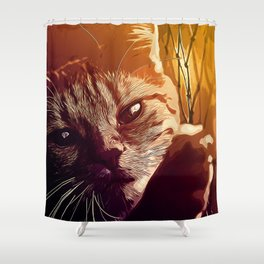 set your cat free vector art Shower Curtain