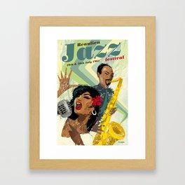 1960's style Jazz poster Framed Art Print