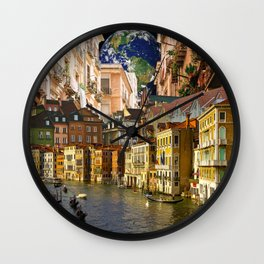 A Glimpse of the World Wall Clock