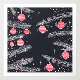 Christmas is Here Art Print