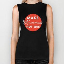 Make hummus not war Biker Tank
