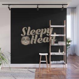 Sloth Sleepy Head Wall Mural