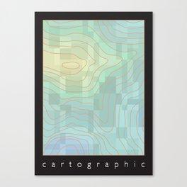 Cartographic Canvas Print