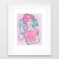 princess bubblegum Framed Art Prints featuring Princess Bubblegum by Weird Zebra Thing