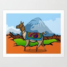 Lofty Llama Art Print