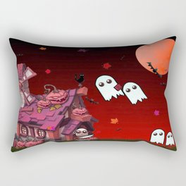 Halloween Pumpkin House Rectangular Pillow