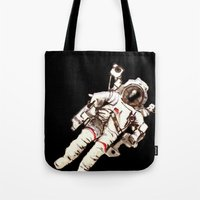 astronaut Tote Bags featuring Astronaut by Kristin Frenzel