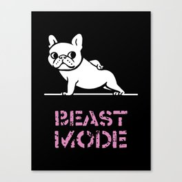Beast Mode Frenchie Canvas Print