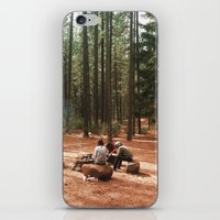 camp iPhone & iPod Skins featuring Camp by Casey Afton Hess