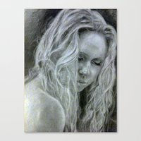 beth hoeckel Canvas Prints featuring Beth by EleanorOrchard