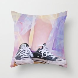 Happy Shoes Throw Pillow