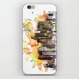 Los Angeles Cityscape Skyline Painting iPhone Skin