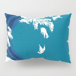 Waves Llama Pillow Sham