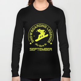 Snowboarding T-Shirt September Birthday Apparel Long Sleeve T-shirt