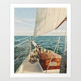 Open Ocean Sailing Art Print