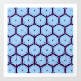 large honey comb tonal Art Print