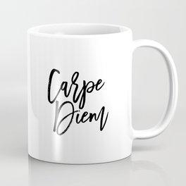 Carpe Diem, Printable Art, Quote, Inspirational Typography Print, Minimalistic Print, Digital Print, Coffee Mug