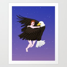 Making Love With His Eagle Art Print