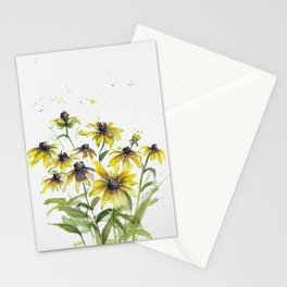 Loose Black Susans in watercolor Stationery Cards