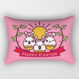 Happy Easter Happy Bunnies Rectangular Pillow