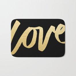 Love Gold Black Type Bath Mat