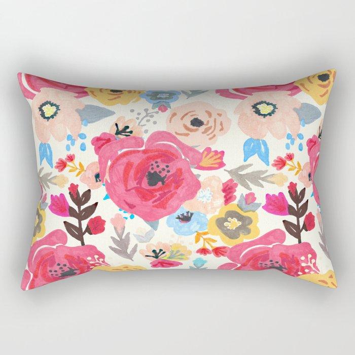 Summer Flora Rectangular Pillow
