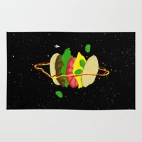 jared leto Area & Throw Rugs featuring Planetary Discovery 8932: Cheeseburger by jared stumpenhorst