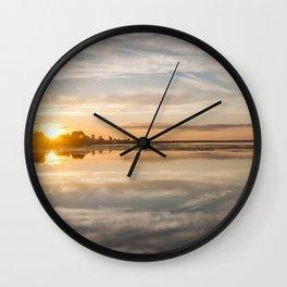 Baltic sea and sunset Wall Clock
