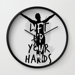 Lift Up Your Hands Wall Clock