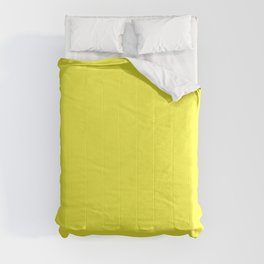 NOW GLOWING YELLOW solid color  Comforters