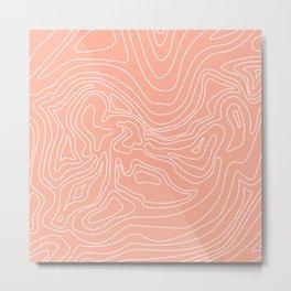 Ocean depth map - coral Metal Print