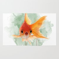 goldfish Area & Throw Rugs featuring Goldfish by Sarah Sutherland