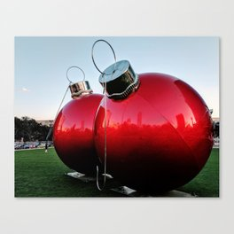 Great Balls of Christmas! Canvas Print
