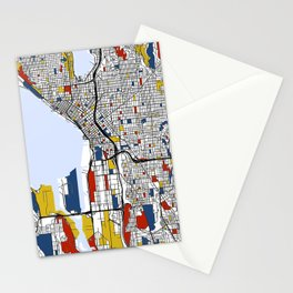 Seattle Mondrian Stationery Cards