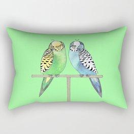 budgerigars Rectangular Pillow