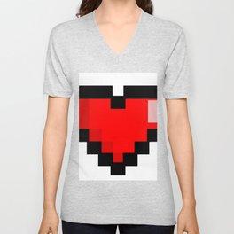 Game life retro heart Unisex V-Neck