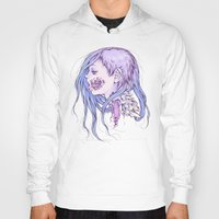 gore Hoodies featuring Pastel Gore Girl by Savannah Horrocks