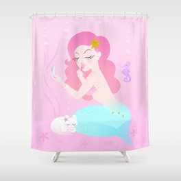 Mermaid Primp Shower Curtain