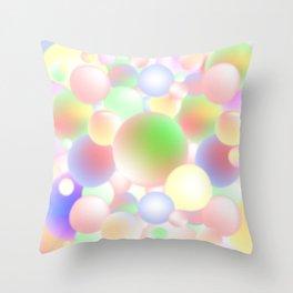 Blur Balls Throw Pillow
