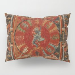 Nine-deity Mandala of Two-armed Hevajra Pillow Sham