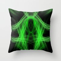 led zeppelin Throw Pillows featuring Led by Azimut