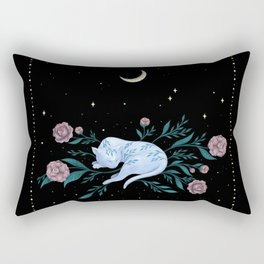 Cat Dreaming of the Moon Rectangular Pillow
