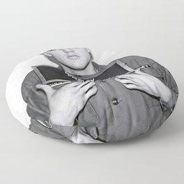 ELVIS PRESLEY ARMY MUGSHOT Floor Pillow